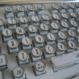 White Deco Keyboard